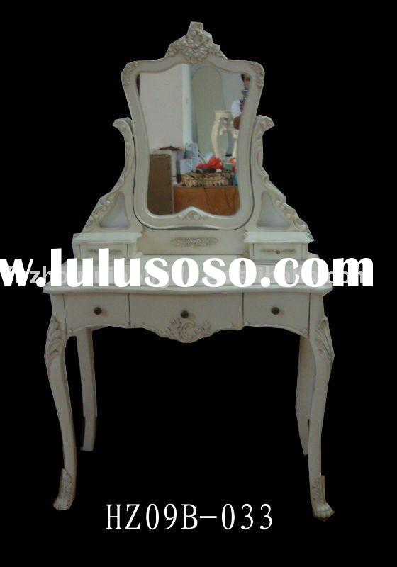Antique White Dressing Table With Mirror W90 X D46 X H157CM