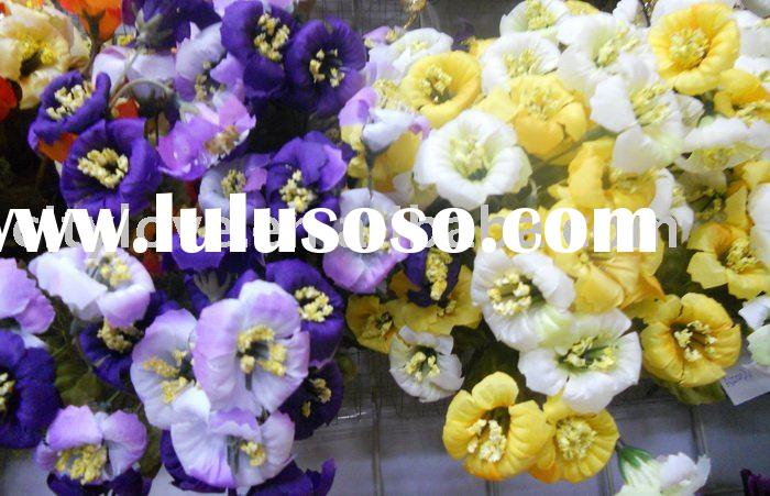 Artificial flower/artificial plant--morning glory artificial silk flower--yellow/white/purple