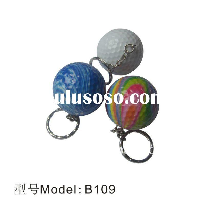 B109 golf keychain ball, golf accessories,golf product,golf items,golf promotional gift