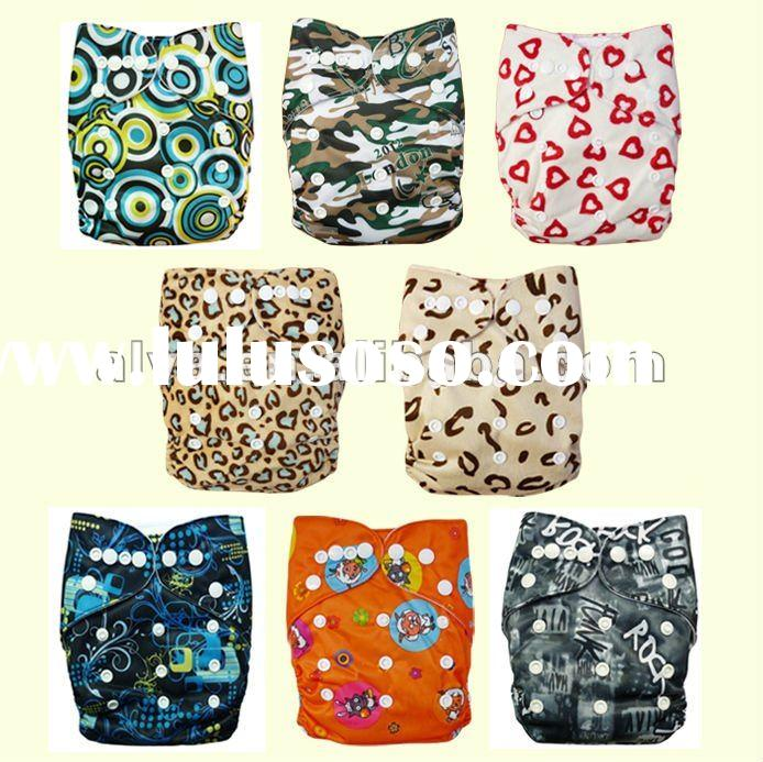 Baby Cloth Diapers One Size/Printed Pocket Cloth Nappies