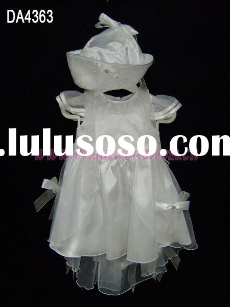 Baby flower girl dress with diaphanous coat