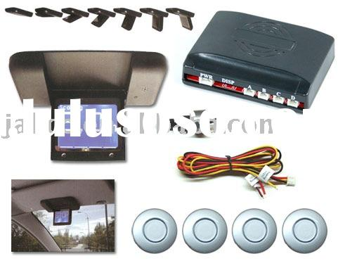 Backup Reverse Parking Sensor with Automatic Flip down LCD display