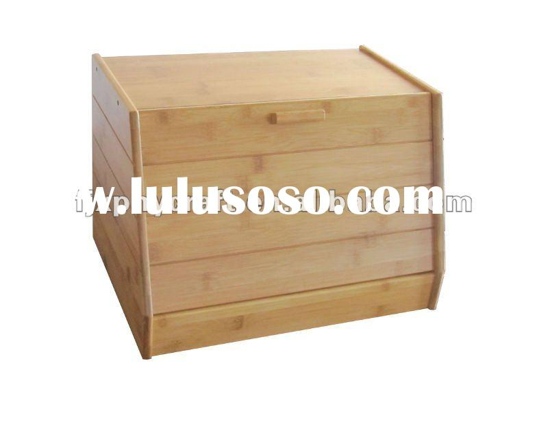 Bamboo Bread box with cutting board