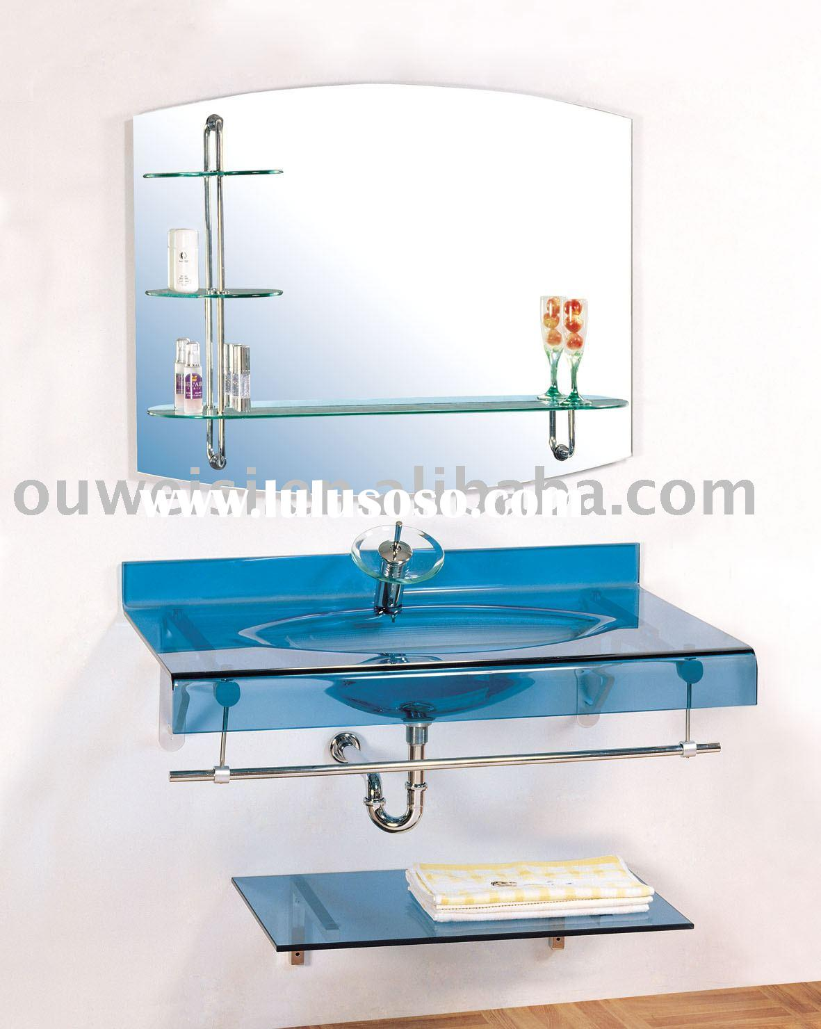 Bathroom vanity bathroom cabinet bathroom glass set