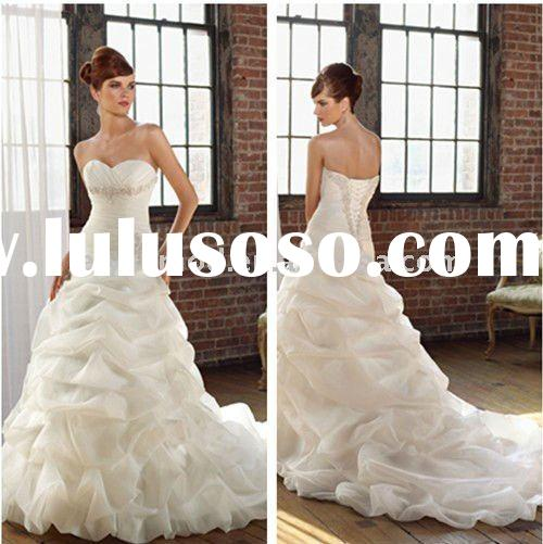 Best Seller Strapless White Taffeta Ruched Wedding Dress 2011 in Lebanon
