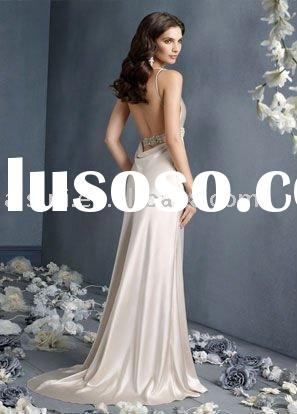 Best Selling Jim Hjelm JH8905 V-neckline Statin Sheath Chapel Train Bridal Gown Wedding Dresses