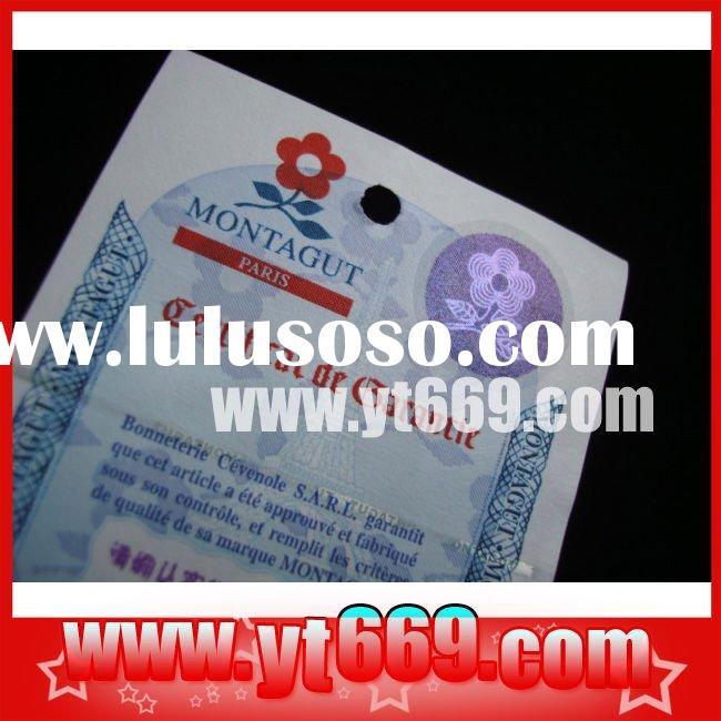 Bond paper hologram watermark paper ticket printing