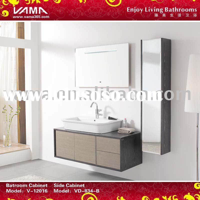 Bouncing doors and drawers shower room cabinets/solid wood cabinet vanity/modern bathroom wooden fur