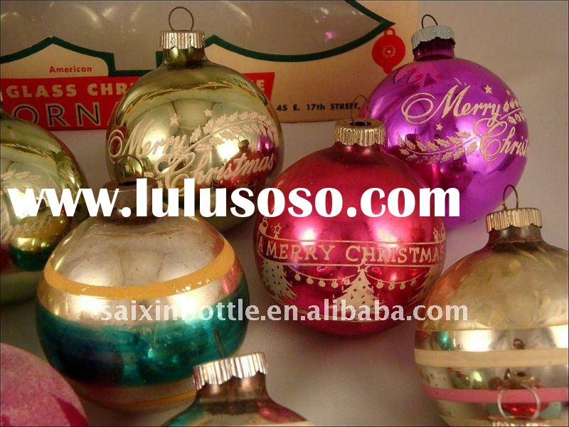 Box 12 Shiny Brite Assorted Glass Ball Tree Ornaments Vintage Christmas Bulbs