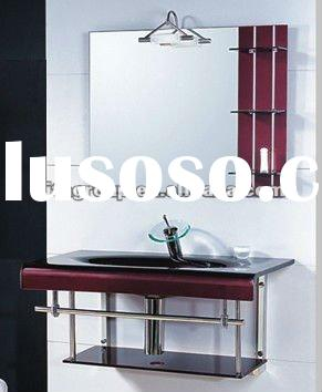 CE certificated tempered glass vanity sink glass basin