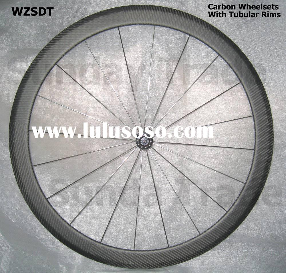 Carbon Bike Wheel Set with Tubular Rims 45mm, WH-45T