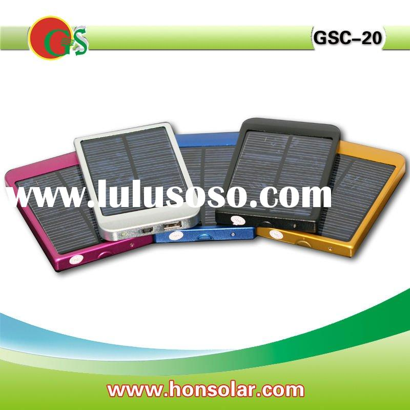 Cell phone solar charger, 2600mah battery,