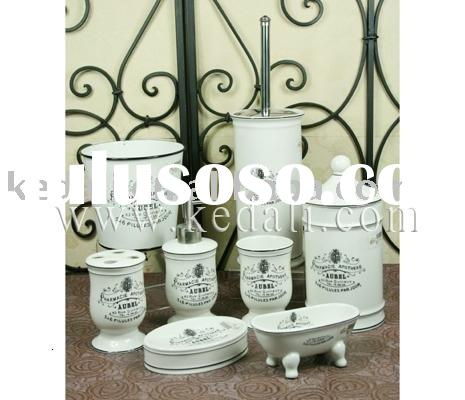 Ceramic bathroom set, porcelain bathroom set, bathroom accessories, Le Bain bathroom set