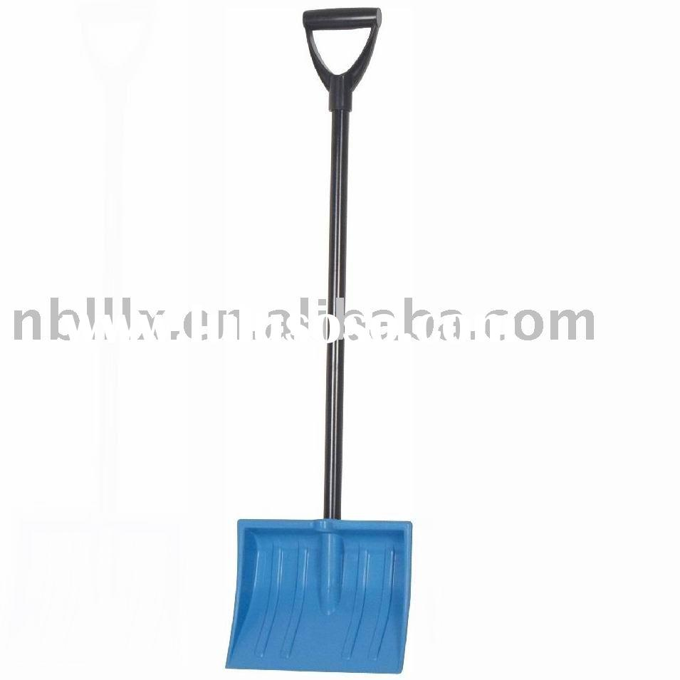 Children snow shovel with plastic blade, D grip handle