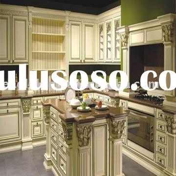 Classic White Glazed Solid Wood Kitchen Cabinet