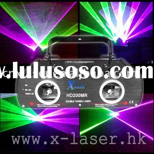 Club 200mw two tunnel purple green laser light show