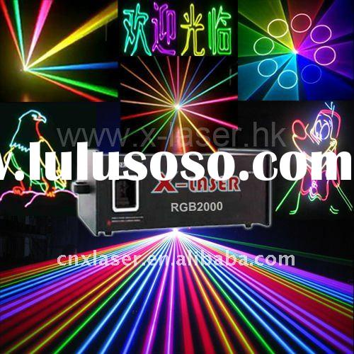 Club RGB 2W full color laser light show