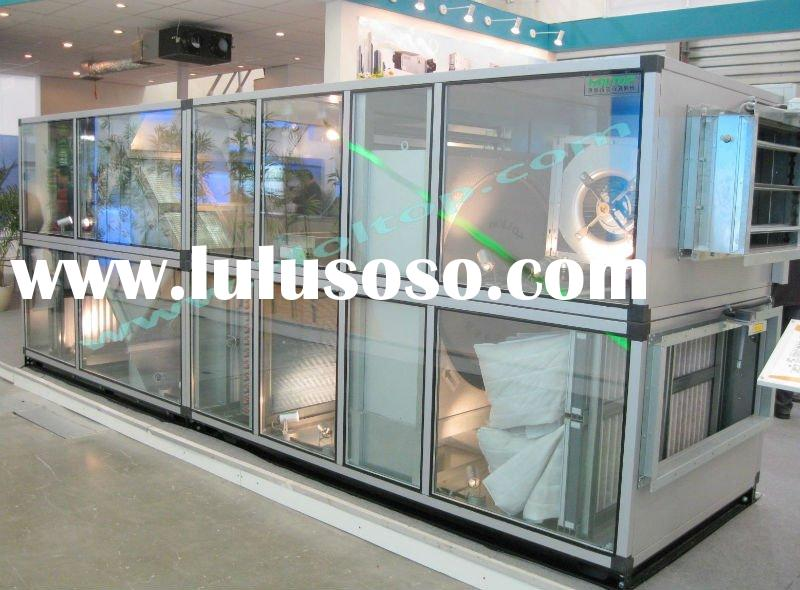Combined type air handling unit with plate heat exchanger (heat recovery AHU)
