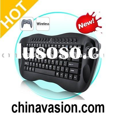 Computer Remote Control - Mini Wireless Keyboard with Trackball
