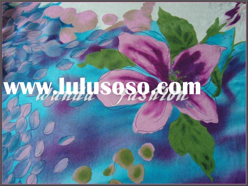 Contryside printed silk chiffon fabric(SK0210)