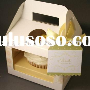 Cupcake box Detailed Product Description 1Material 300G Coated 1 side