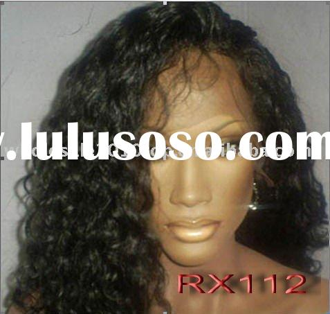 Custom indian remy human hair lace front wigs