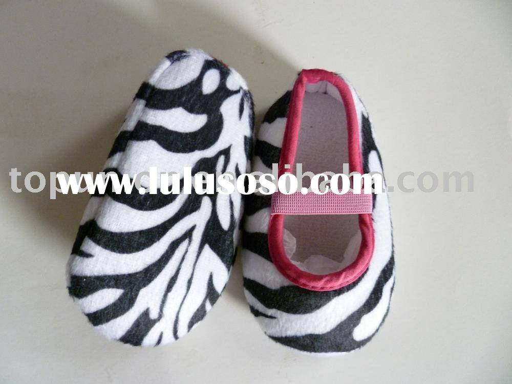 Cute Zebra Print infant shoes