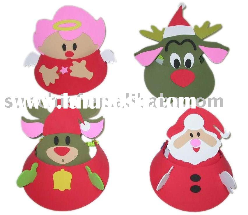 DIY EVA FOAM CRAFT,DIY FOAM X'MAS CAP, DIY CRAFT KIT,EVA FOAM CRAFT,EVA HANDICRAFT,PROMOTION