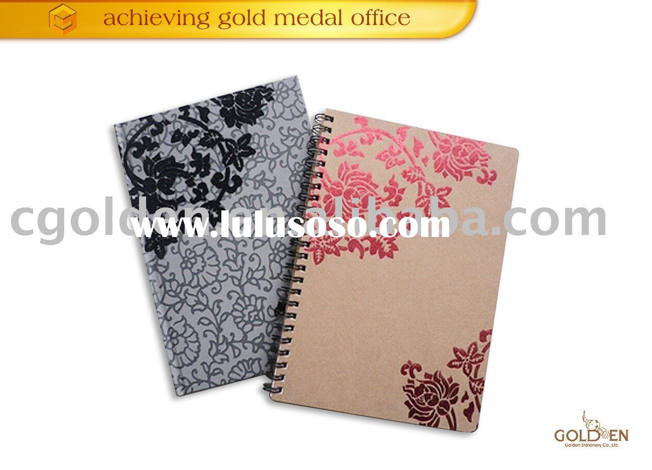 Delicte dsrk color paper spiral notebook GDS100-D050