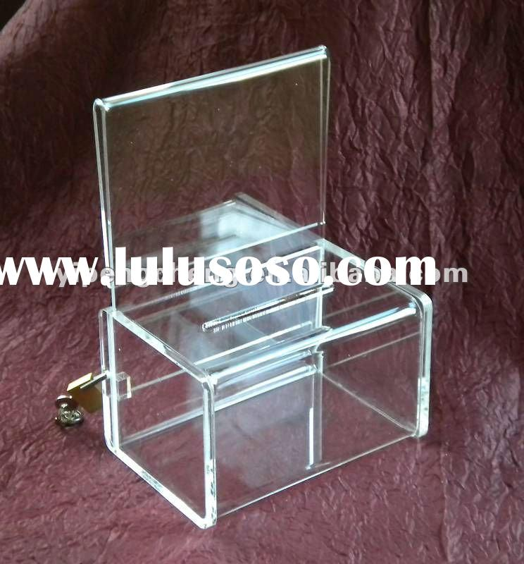 Deluxe Small Acrylic Collection/Coin/Donation Box