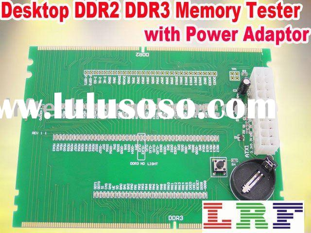 Desktop DDR2 DDR3 memory tester with power adaptor.LED Display card, Test card for chips.