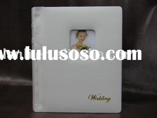 Digital wedding photo album white leather cover