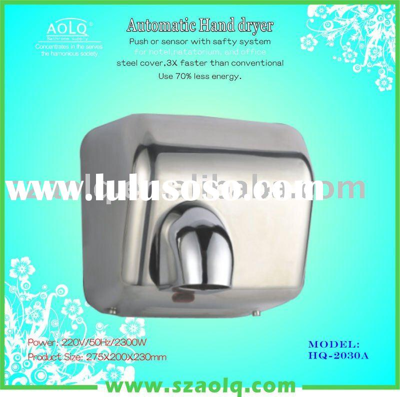 Electronic hand dryers in high speed