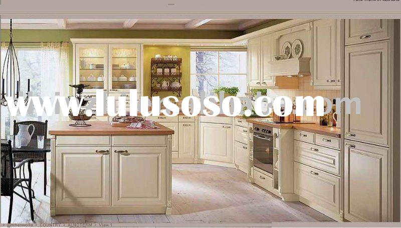 European-style white wood kitchen cabinet