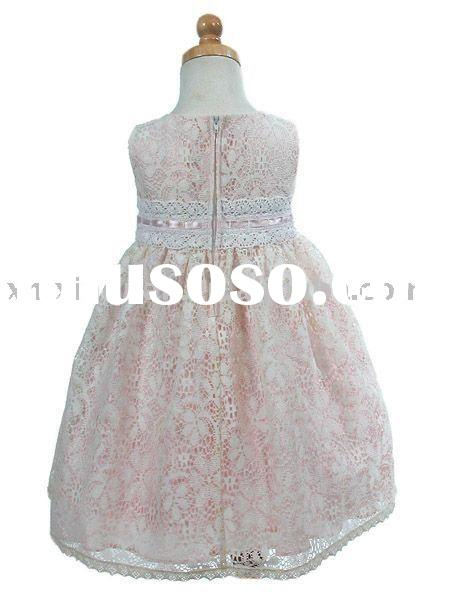 FG003 Free Shipping lace overlay flower girl dress for wedding
