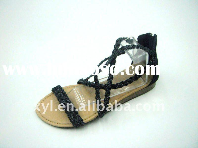 Fashion Black Ladies Sandals (XYL-WSL029)