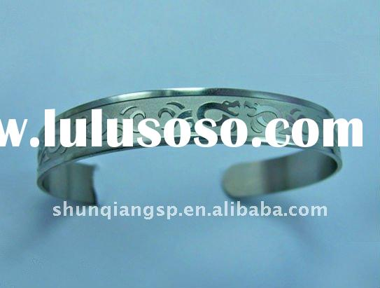 Fashion Engravable Stainless Steel Jewelry Free Custom Logo Bangle Low MOQ Wholesale Cheap Indian Je