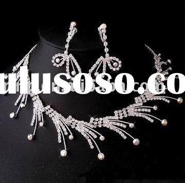 Fashion crystal bridal jewelry set 2011 arabic clothes women dress