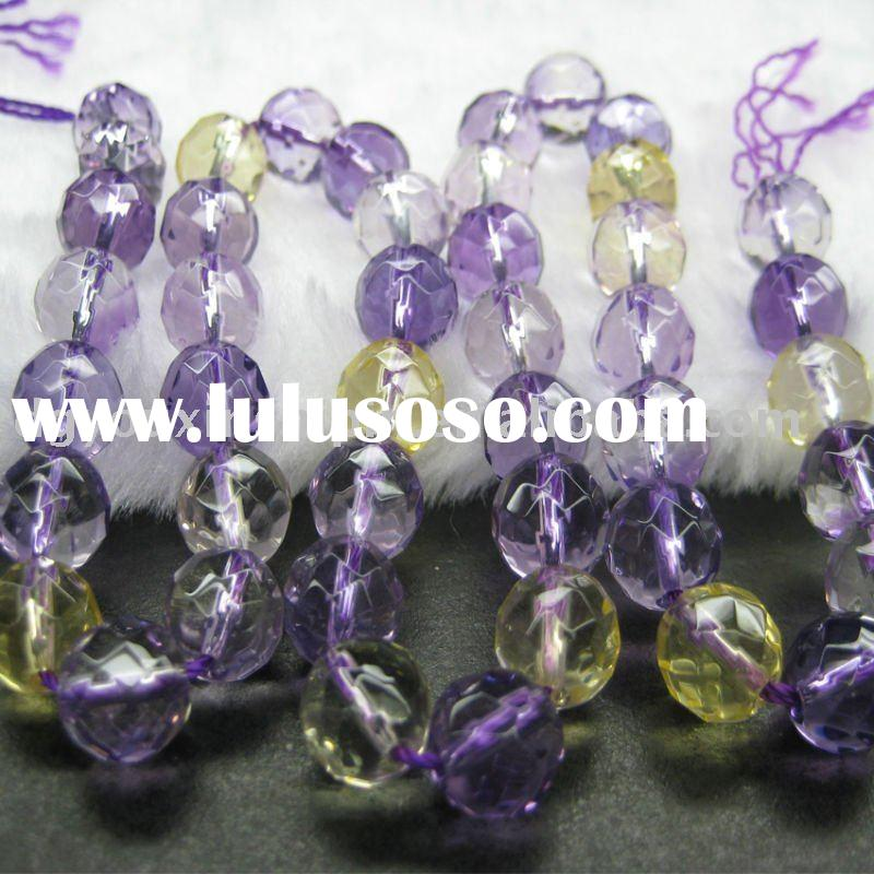 Fashion natural 8mm gemstone faceted Crystal beads jewelry