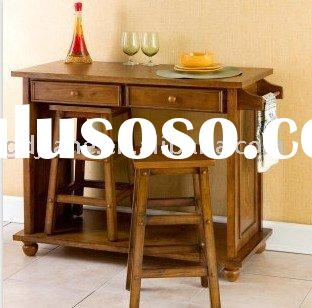 Finish Wood Kitchen Island with Stools\Table & Stool