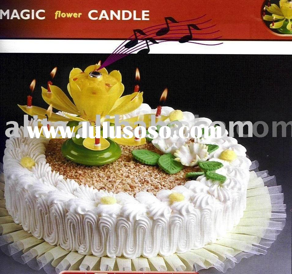 Flower Fireworks Music Candle