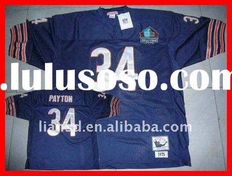 Football Jersey Chicago bears Walter Payton blue jersey with Hall of Fame patch accept paypal authen
