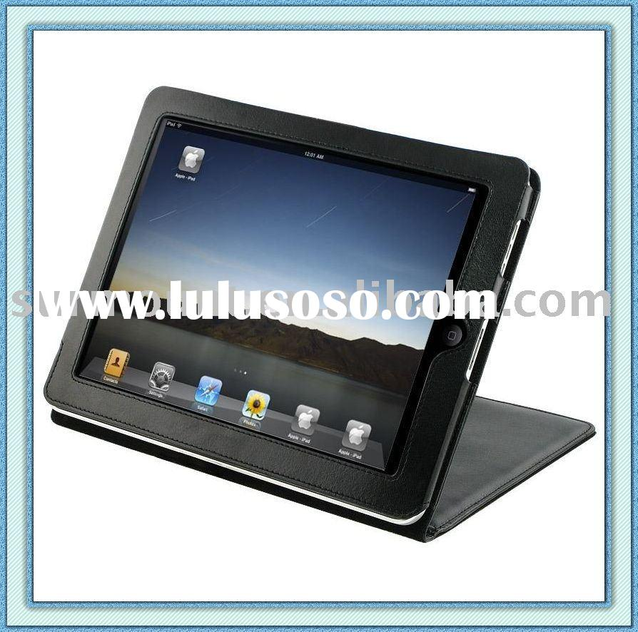 For Apple iPad Leather Case with Kick Stand