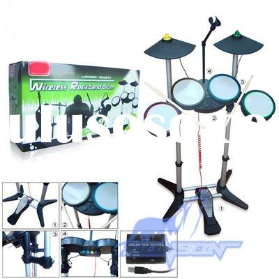 For PS2 WII PS3 XBOX360 2.4G 4in1 Wireless Rock band Drum / video game accessories