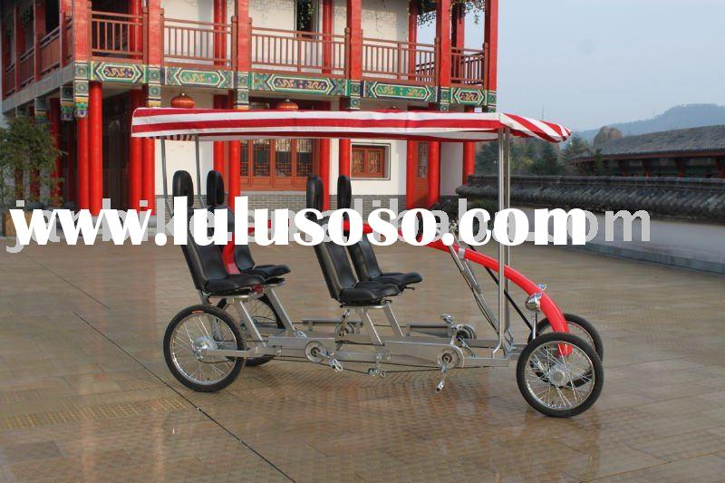 Four (4) Wheel Two (2) And Four (4) Person Surrey Quadricycle Bike