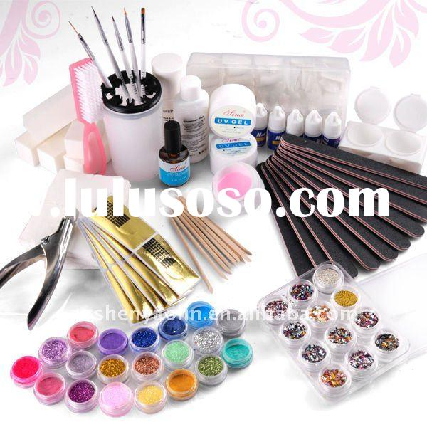 Full Set UV Gel False Tips Nail Art Manicure kit NA436