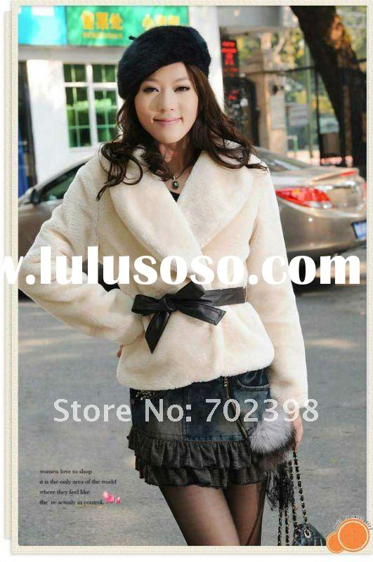 Fur coats./ Knitted rabbit fur coat / Ladies outerwear