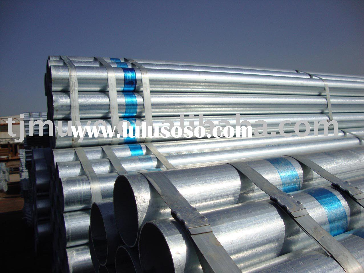 Galvanized steel pipe & tubing, PVC coated pipe & tubing