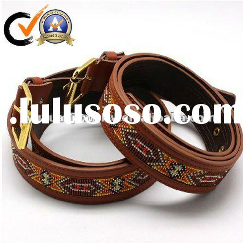Genuine Leather Belts with Handmade Luxury Beads for women