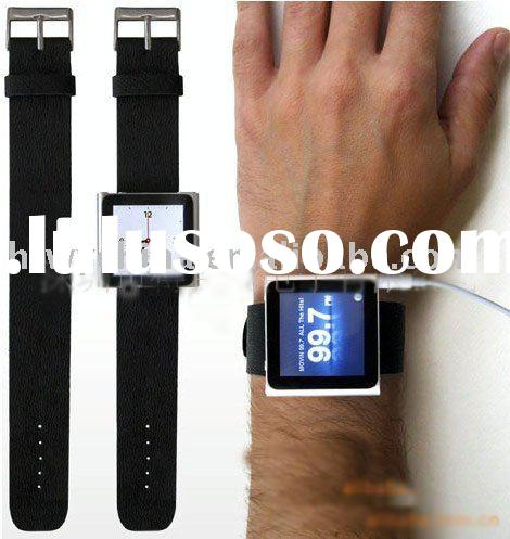Genuine leather strap turns your iPod nano 6 into a new watch/Accessories